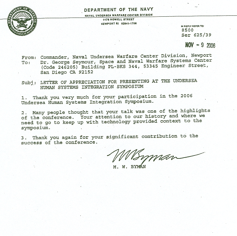 navy letter of appreciation example Car Tuning